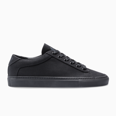 Men's Low Top Canvas Sneaker in Black | Capri Black Canvas | KOIO