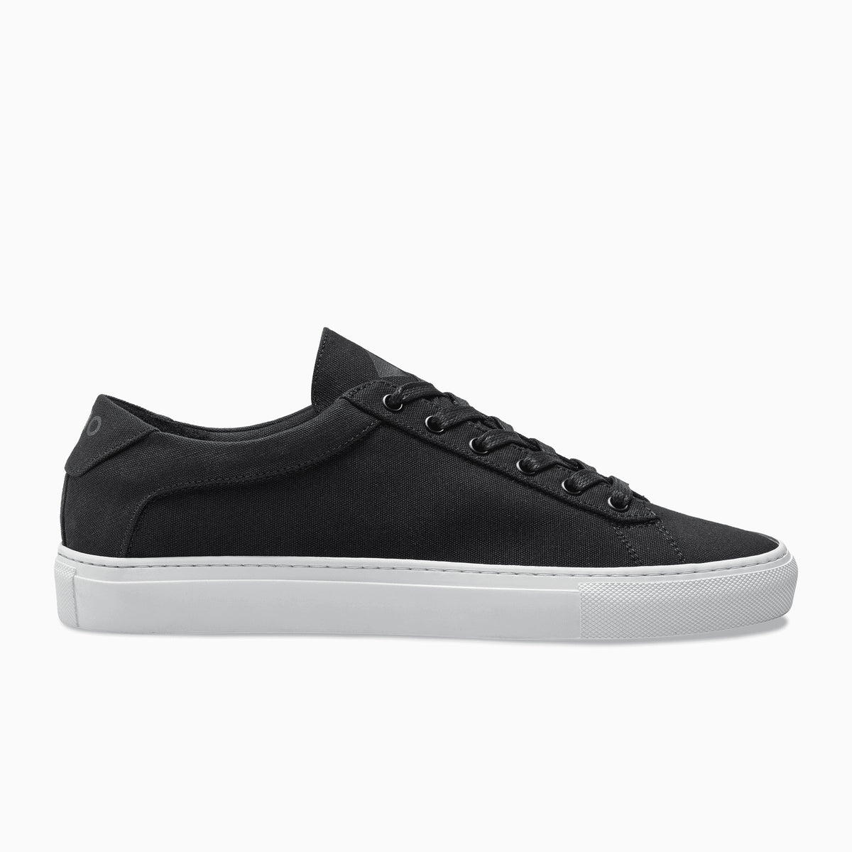 cfbb2ba174bfbb Men's Low Top Canvas Sneaker in Black | Capri Nero Canvas – KOIO