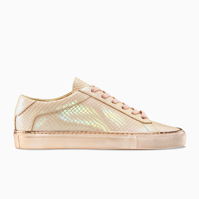 Men's Low Top Leather Sneaker in Pink | Capri P.S. 149 | KOIO