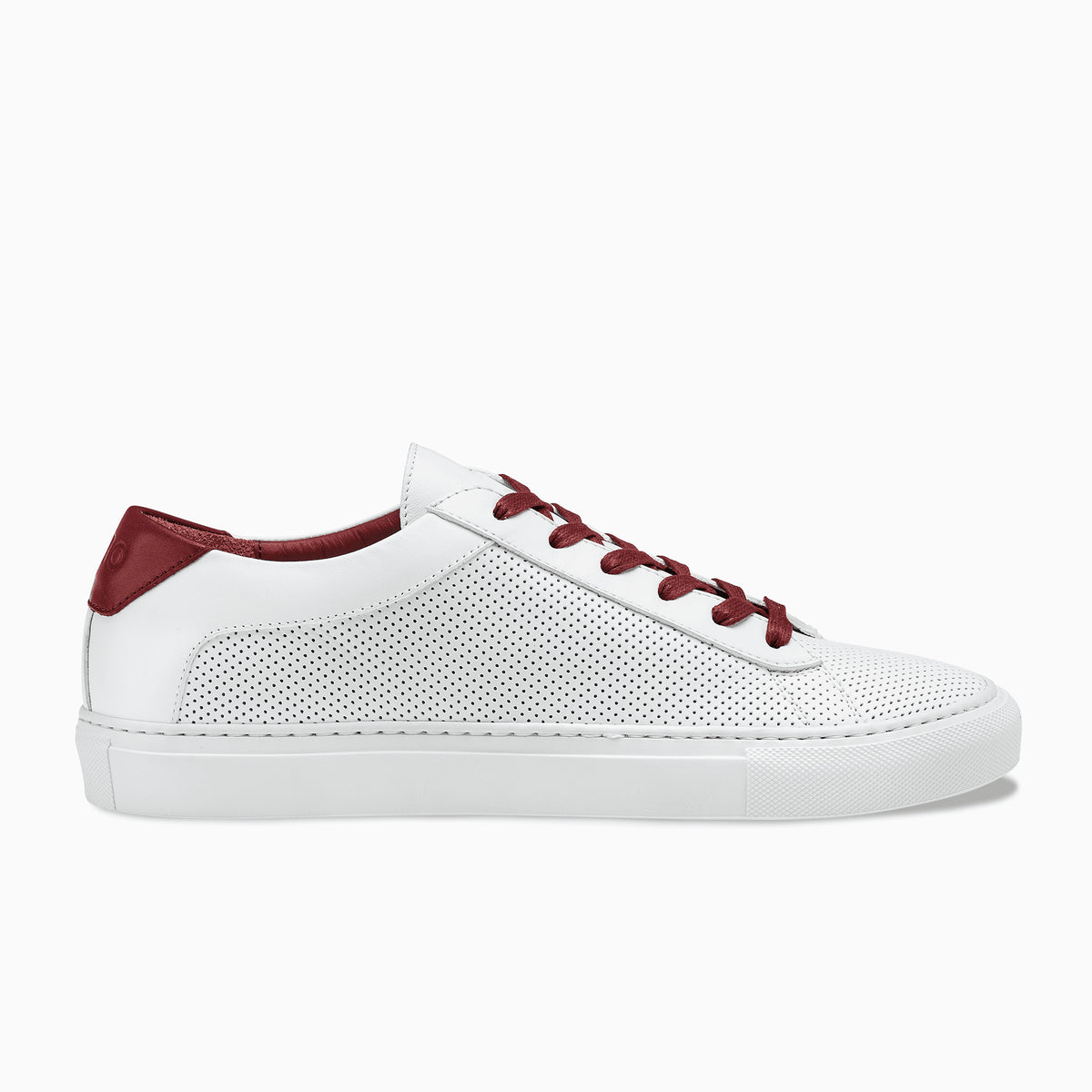 Women S Low Top Sneaker In White Red Capri Red Chili