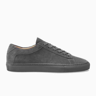 Dark Grey Suede Low Top Sneaker Mens Koio