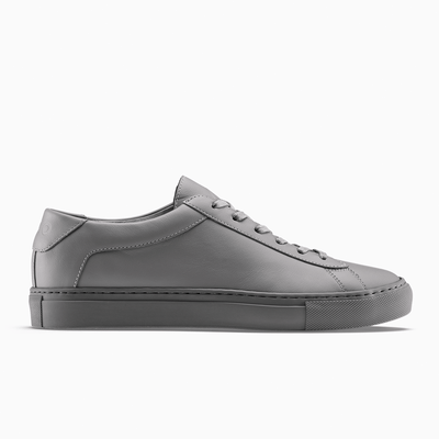 Low-top Sneakers in Dark Grey| Men's Capri Clay | KOIO