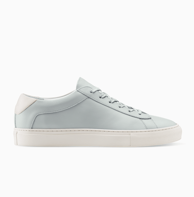 Men's Low Top Leather Sneaker in Light Blue | Capri Sky Blue | KOIO