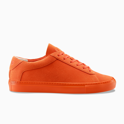 Women's Low Top Suede Sneaker in Orange | Capri Masago | KOIO