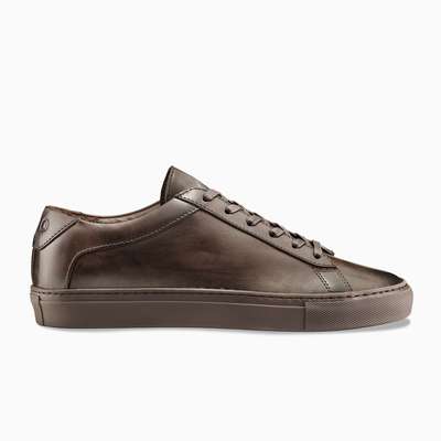 Men's Low Top Leather Sneaker in Brown | Capri Mocha | KOIO