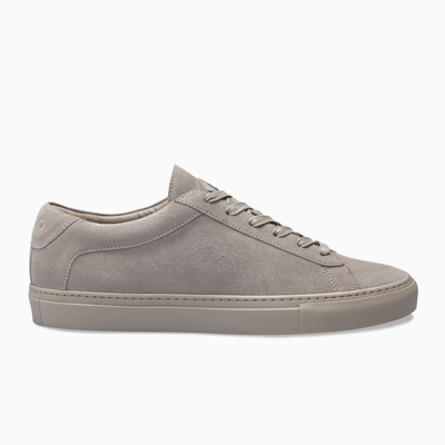 Grey Suede Low Top Sneaker Womens Koio basic