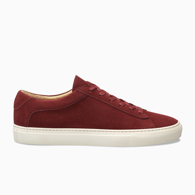 Red Suede Low Top Sneaker white sole  Mens Koio basic