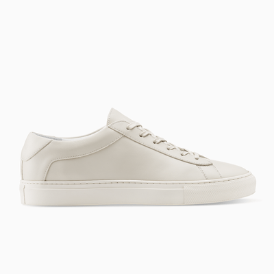 Men's Low Top Leather Sneaker in Beige | Capri Ivory | KOIO