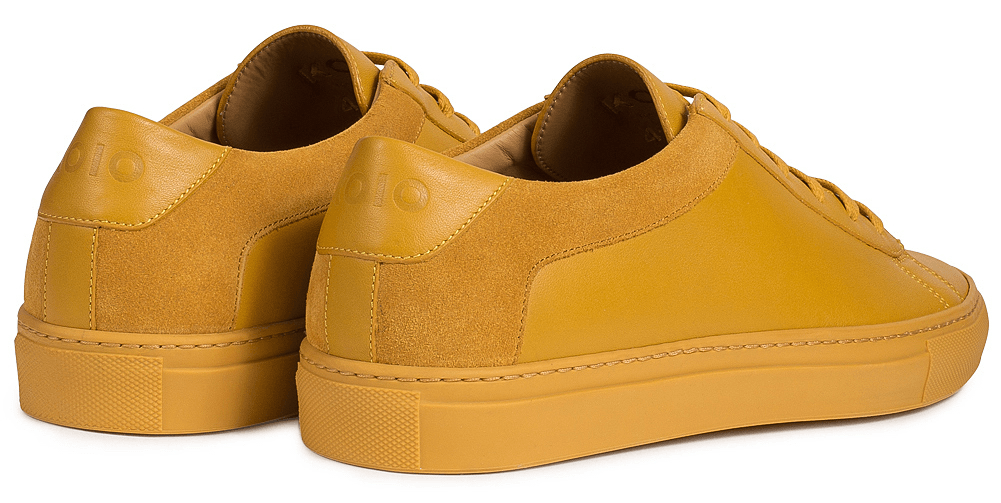 Our original low-top sneaker in exquisite Vitello leather and camoscio suede.