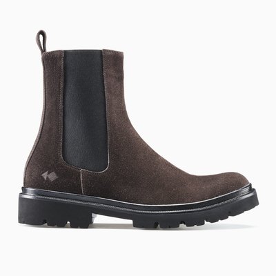Men's Suede Chelsea Boot in Brown | Chelsea Mocha | KOIO
