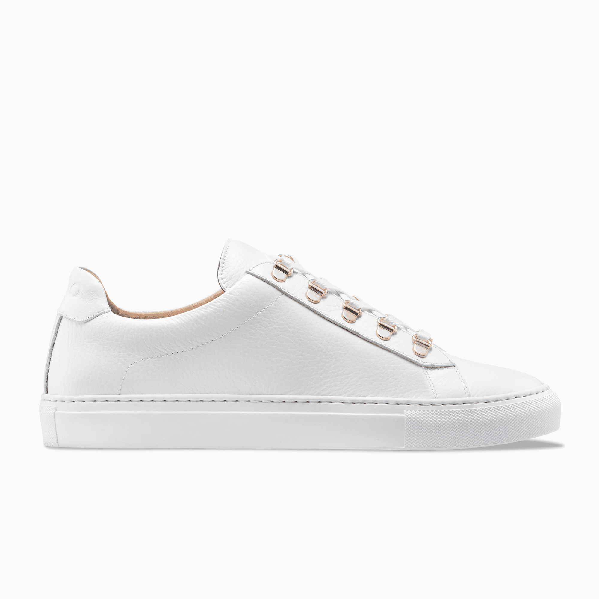 Men S Low Top Leather Sneaker In White Gavia Bianco Koio