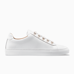 Women S Low Top Leather Sneaker In White Gavia Bianco Koio