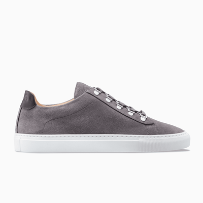 Grey Low Top Suede Sneaker Mens Koio