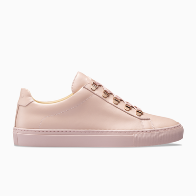 Pink Low Top Leather Sneaker pink Sole Womens Koio