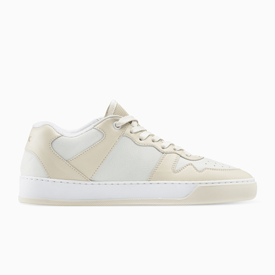 Men's Low Top Leather Sneaker in Creme | Metro Creme | KOIO