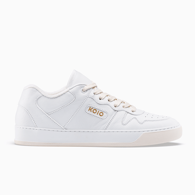 Men's Low Top Leather Sneaker in White | Metro Triple White | KOIO