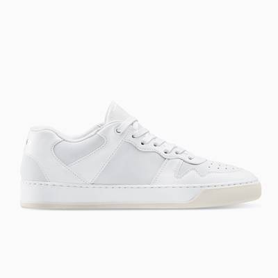 Men's Low Top Leather Sneaker in White | Metro White | KOIO