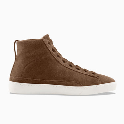 Women's High-Top Suede Sneaker in Brown | Verse Brown | KOIO