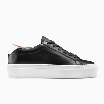 Black Platform Sneaker White Sole Womens Koio
