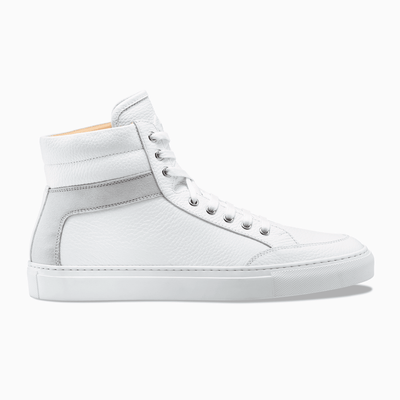 White Grey High Top Leather Sneaker Mens Koio