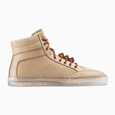 Men's High Top Leather Sneaker in Brown | Koio x Bradley Duncan | KOIO