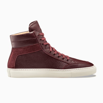 Red High Top Sneaker White Sole Women's Koio
