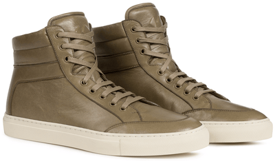 Our signature high-top sneaker in vegetable-tanned Vacchetta leather. Handmade in Italy.