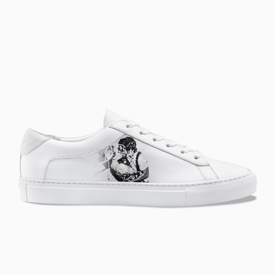 Special White Leather Low Top Sneaker Women's Koio