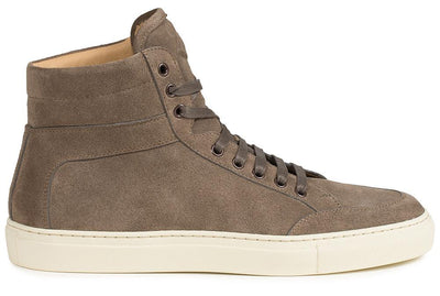 Our signature high-top sneaker in immaculate Italian suede. Handmade in Italy.
