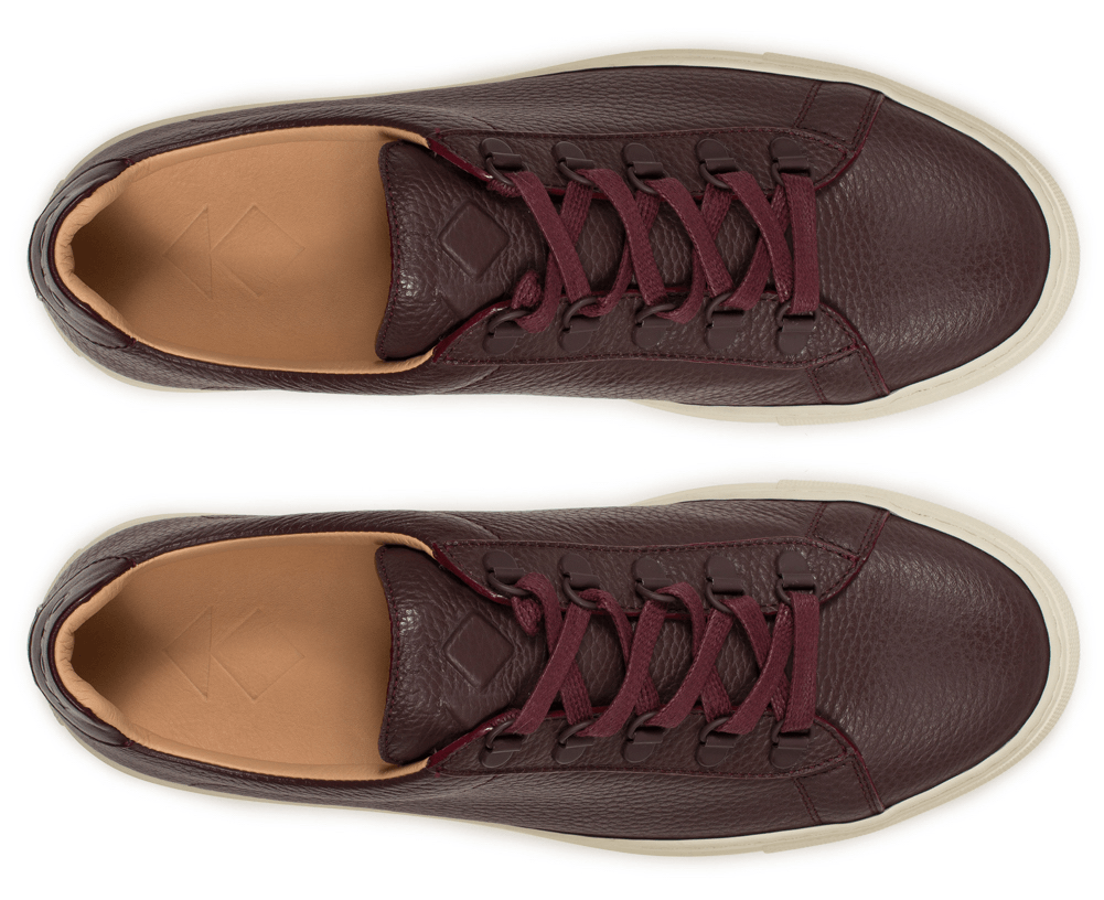 Our trek-inspired low-top sneaker in pristine pebble-grain calf-leather. Handmade in Italy.
