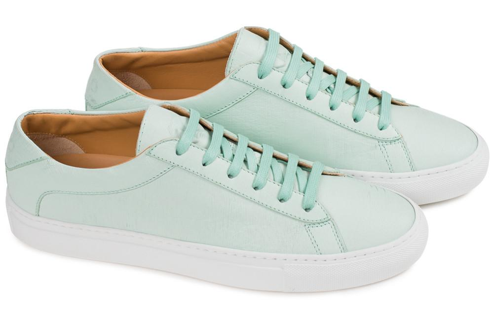 854b821be5f30c Our original low-top sneaker in exquisite Vitello leather. Handmade in Italy .