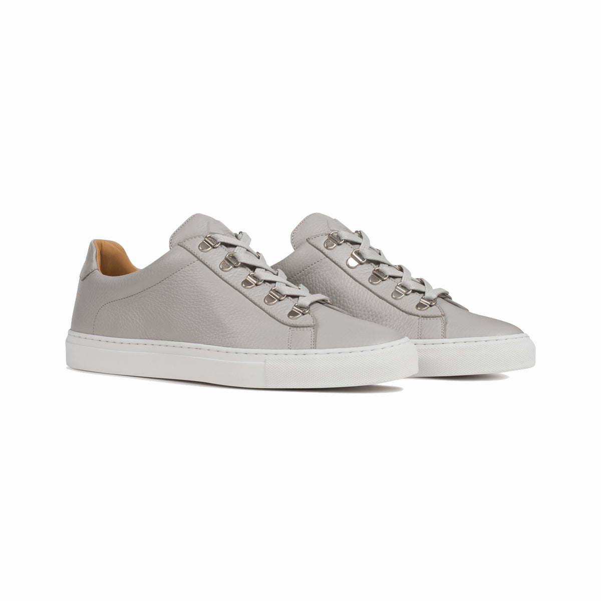 Women S Low Top Leather Sneaker In Grey Gavia Luna Koio