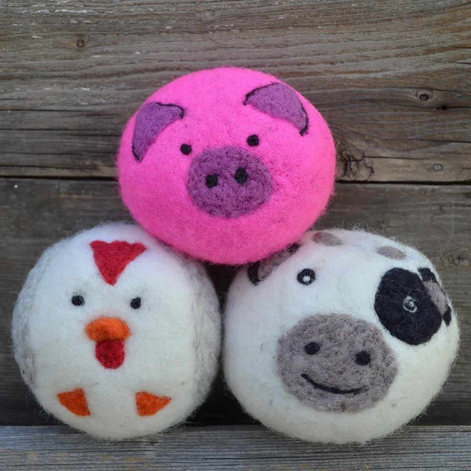 Barnyard Buddies dryer balls