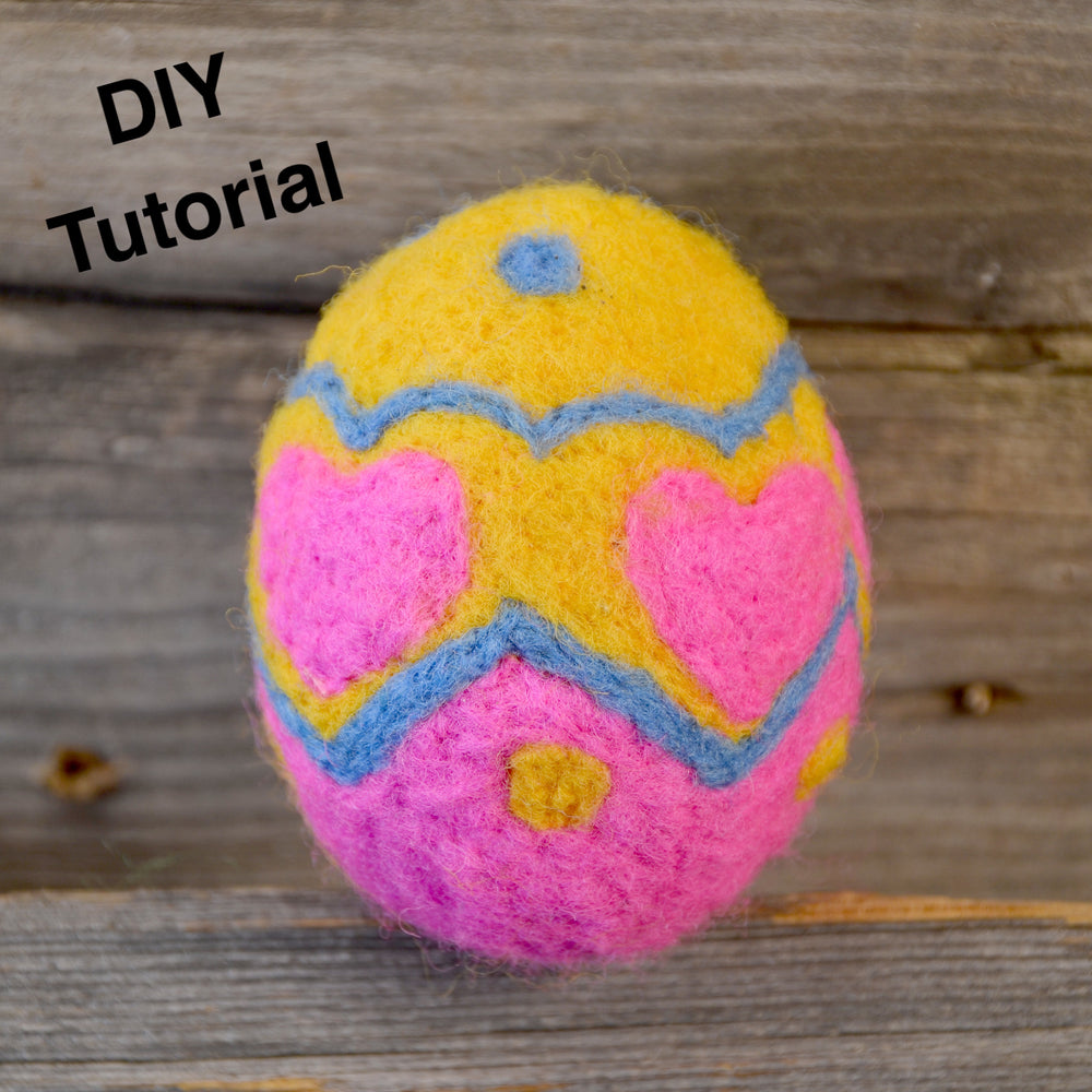 Easter Egg Supplies for a Beginner Felting Project