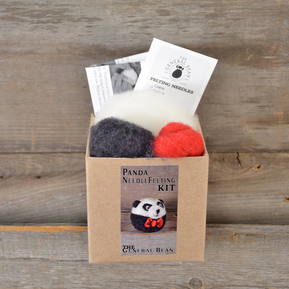 Panda Ornament Felting Kit