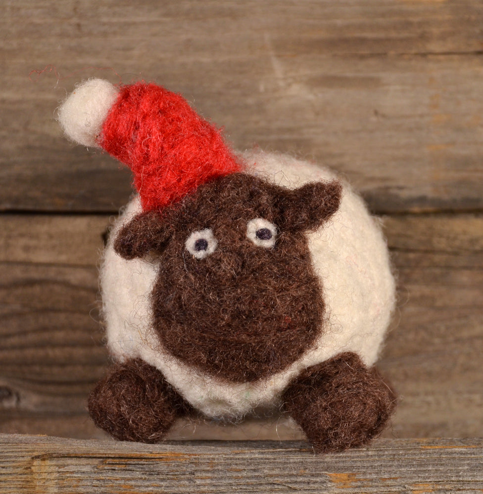 Load image into Gallery viewer, Sheep Ornament Felting Kit