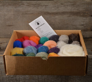 Needle Felting Color Pack Mix of Solids and Heathers