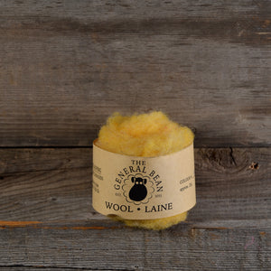 Wool Fibre Light Yellow