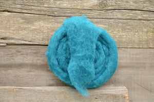 Wool Fibre Teal