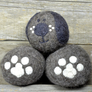 Puppy dryer balls, dog wool dryer balls