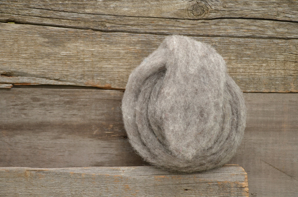 Wool Fibre Natural Medium Grey