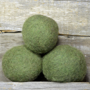 army green wool dryer balls