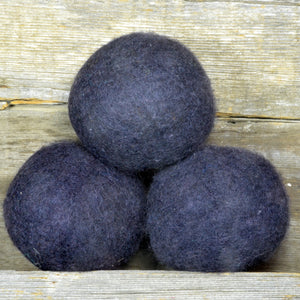 black wool dryer balls made in alberta