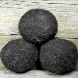 dark brown wool dryer balls
