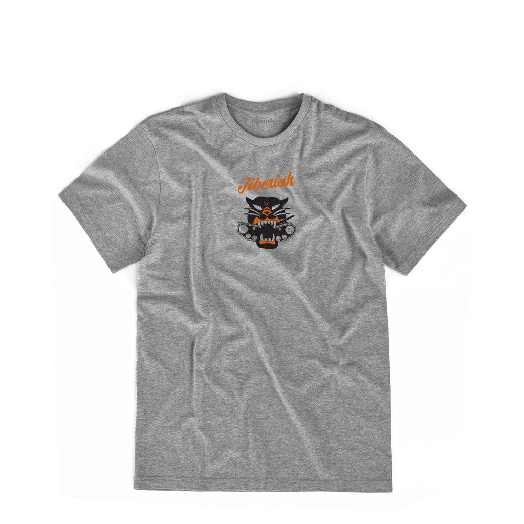 Seek Strike Destroy Supima Heather Grey