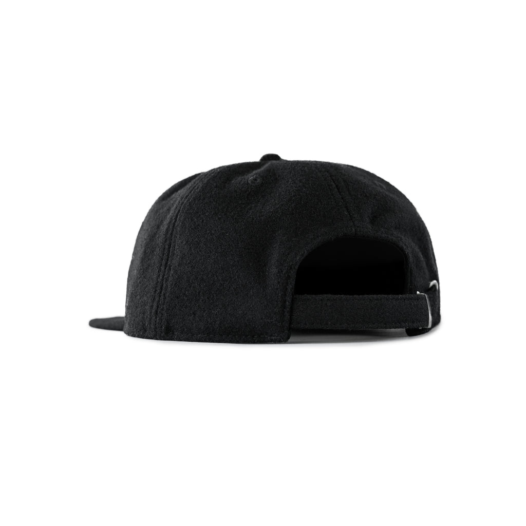 Wool J Unstructured 6-Panel Black