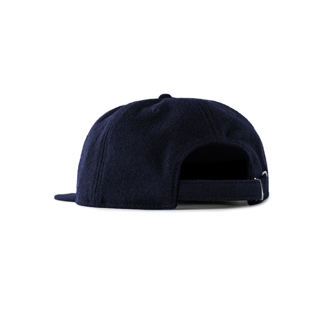Wool J Unstructured 6-Panel Navy