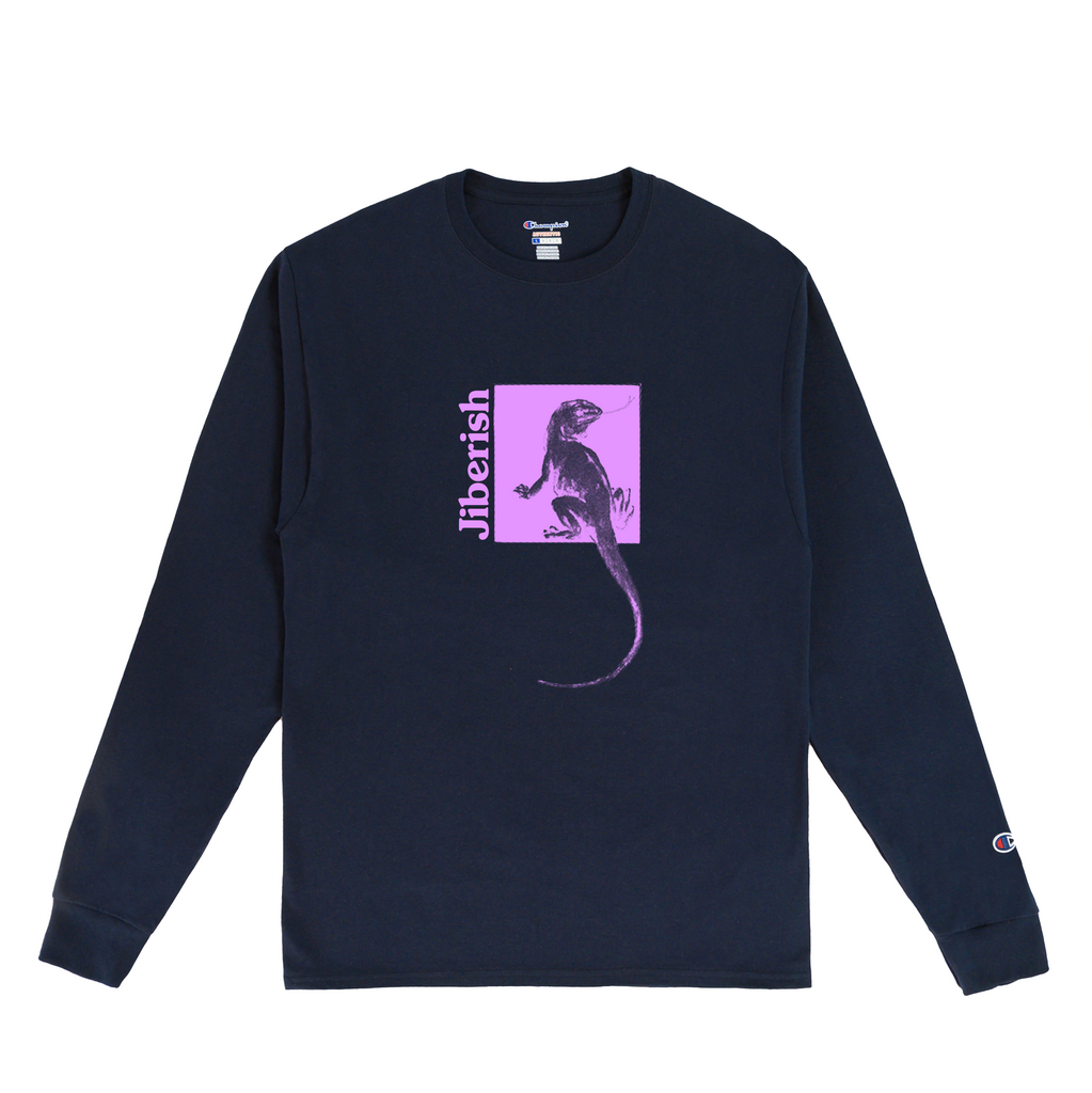 Lizard Wizard Long Sleeve Navy