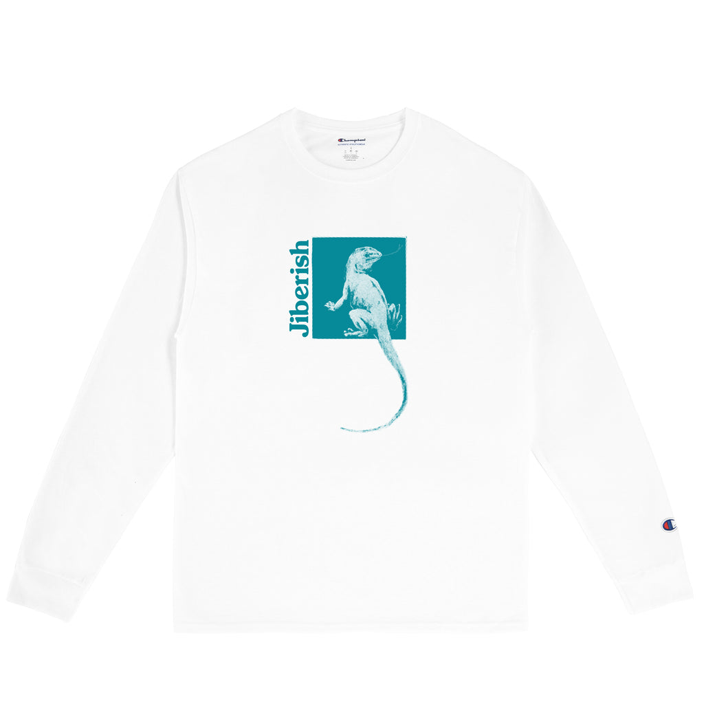 Lizard Wizard Long Sleeve White