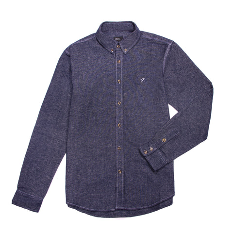 Brushed Cotton Oxford Button Down Navy